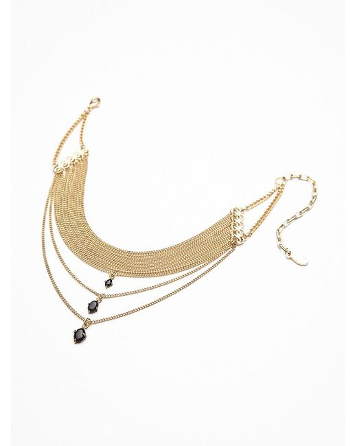 Free People | Metallic Mirella Drop Choker | Lyst