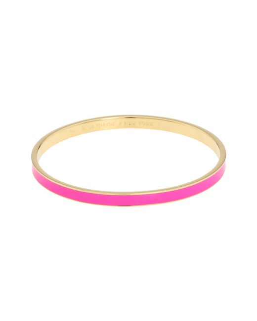 Kate Spade | Pink Make Me Blush Idiom Bangle | Lyst