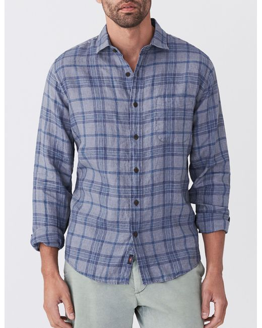 Faherty Brand - Blue Linen Laguna Shirt for Men - Lyst