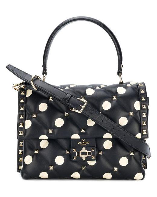 Valentino - Black Candystud Top Handle Bag - Lyst