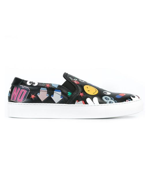 Anya Hindmarch - Brown Multi Patch Sneakers - Lyst