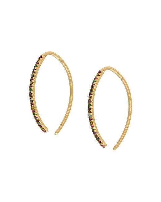 Ileana Makri - Metallic Eye Hoop Earrings - Lyst