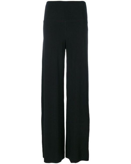 Norma Kamali | Black Wide-legged Trousers | Lyst