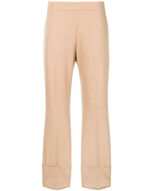 Stella McCartney - Natural Cropped Trousers - Lyst