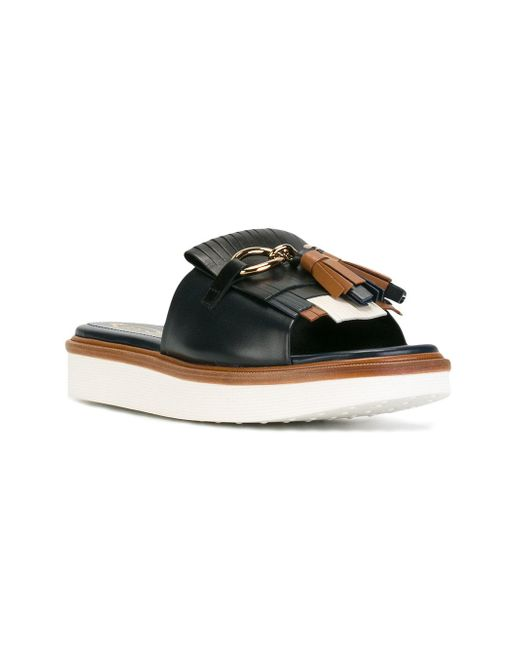 Tod's fringe trim sandals sale order buy cheap good selling supply cheap online free shipping fake order cheap price d1BgM254b