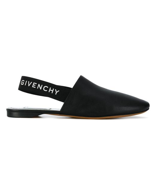 Givenchy - Black Rivington Slingback Flats - Lyst