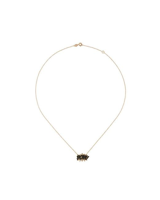 Diane Kordas - Black Pow Diamond Necklace - Lyst