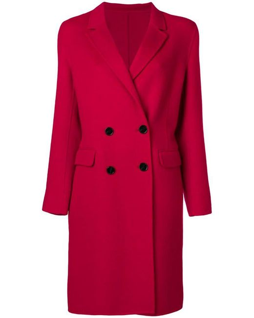 Pinko - Red Loose Fitted Coat - Lyst
