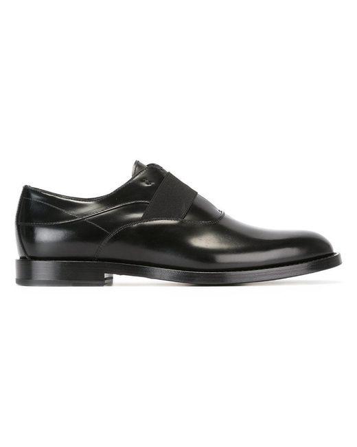 Fendi   Black Elasticated Strap Oxfords for Men   Lyst