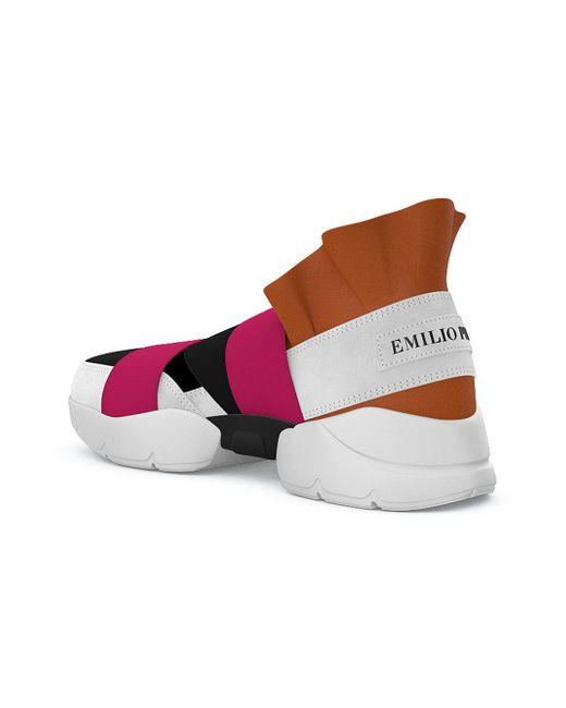 Emilio Pucci Ville Un Slip-on Chaussures De Sport - Multicolor 0PTzUMk