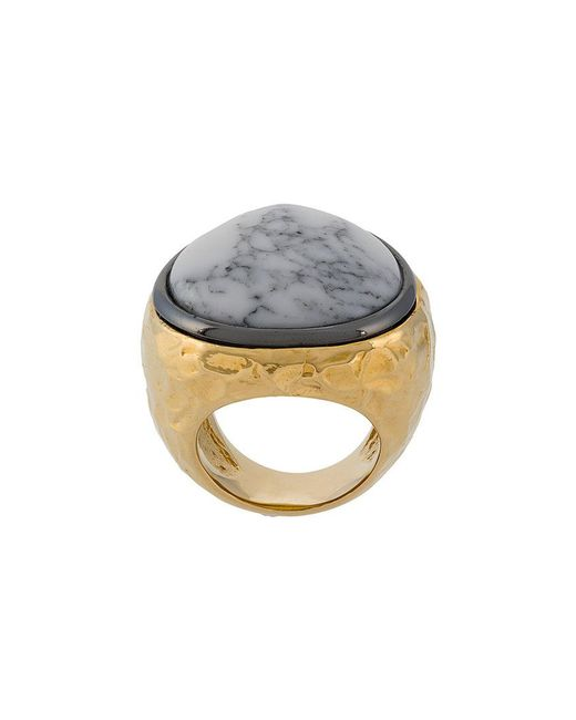 Aurelie Bidermann - Metallic Marble Ring - Lyst