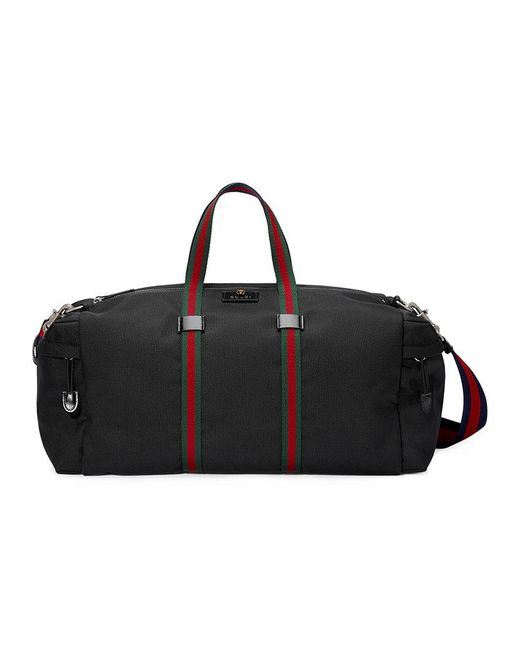 Gucci - Black Technical Canvas Duffle for Men - Lyst