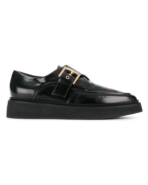 N°21 - Black Platform Monk Shoes - Lyst