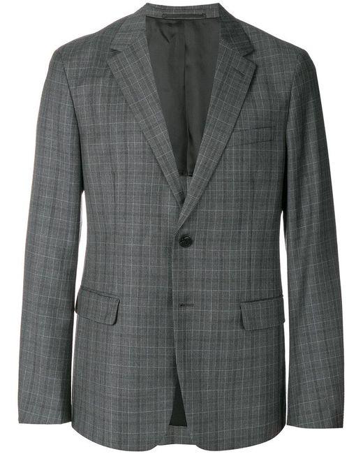 Prada - Gray Checked Blazer for Men - Lyst