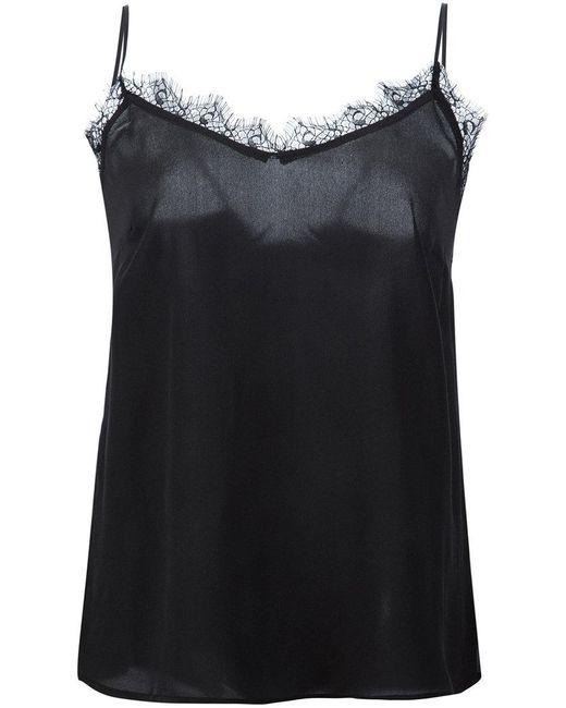 Anine Bing - Black Lace Insert Cami Top - Lyst