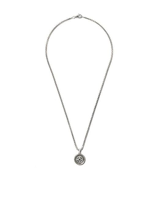 David Yurman - Metallic Maritime Compass Black Diamond Amulet for Men - Lyst