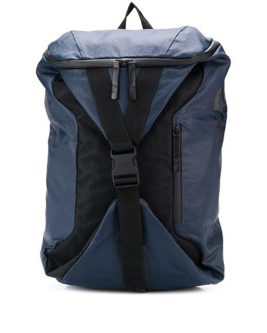 Y-3 - Blue Base Backpack - Lyst ... c53e9d01bbb8b