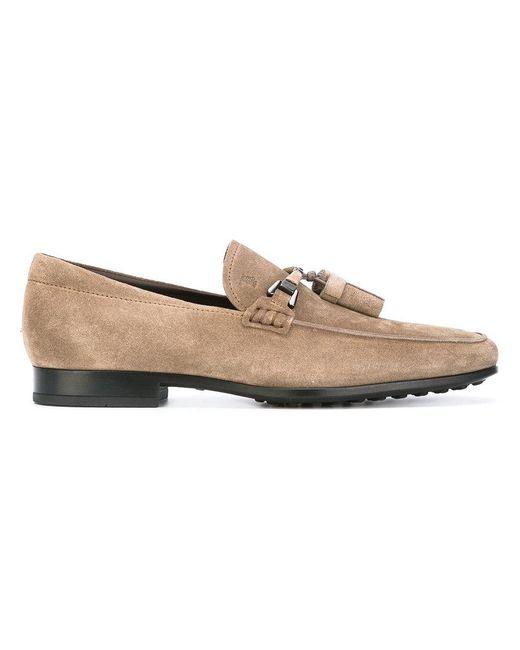 Tod's | Brown Tassel Detail Loafers for Men | Lyst
