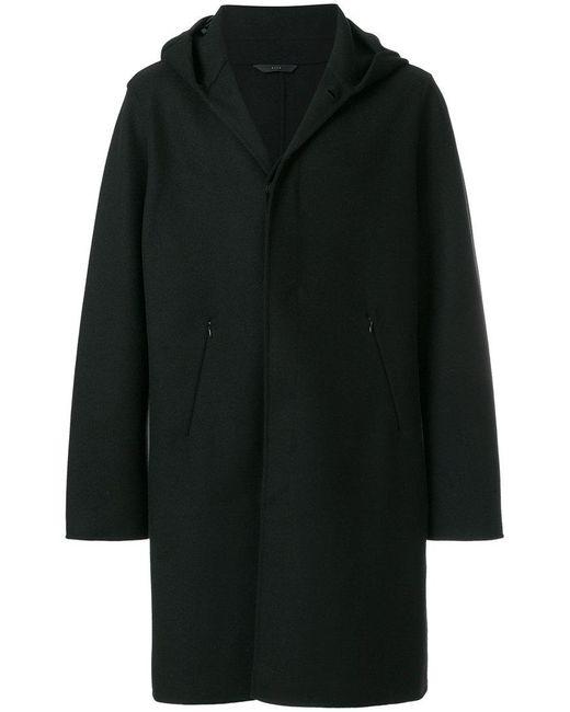 Hevò - Black Classic Hooded Coat for Men - Lyst