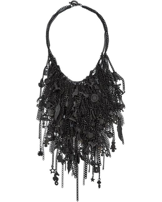 Vera Wang | Black Charm Choker | Lyst
