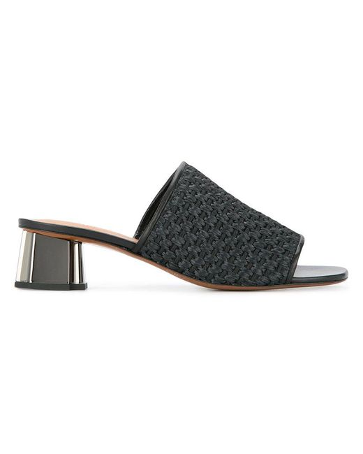 Clergerie - Black Woven Effect Mules - Lyst