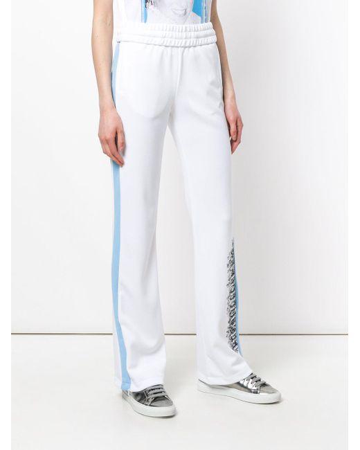 ... Off-White c o Virgil Abloh - White Pantalones de chándal con detalle de  ... 68687a4d82c1