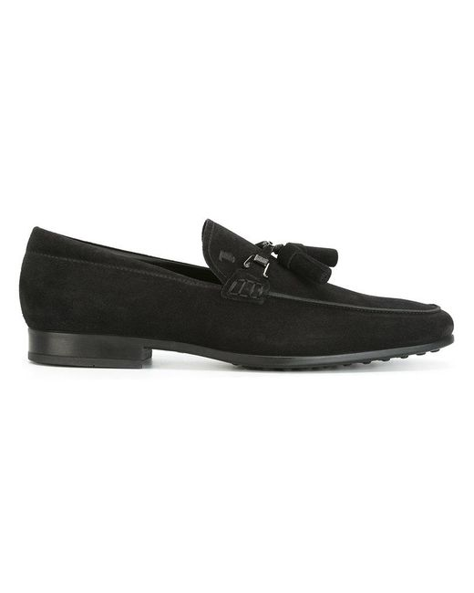 Tod's | Black Tassel Loafers for Men | Lyst