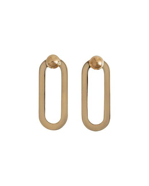 Burberry - Metallic Geometric Drop Earrings - Lyst