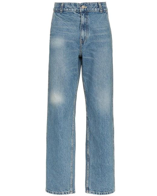 ADER ERROR - Blue Faded Straight Cotton Jeans for Men - Lyst