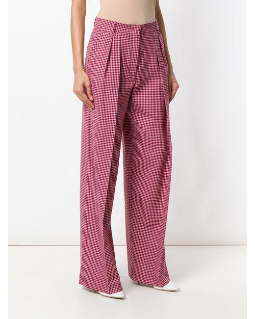 Lyst - Pantalon évasé Fendi en coloris Rouge f193471eb97