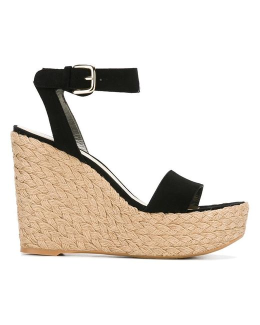Stuart Weitzman | Black Let's Dance Sandals | Lyst