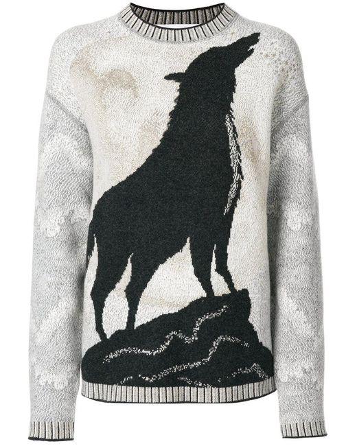 Giada Benincasa | Gray Wolf-intarsia Sweater | Lyst