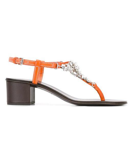 Giuseppe Zanotti | Multicolor Crystal Embellished Sandals | Lyst