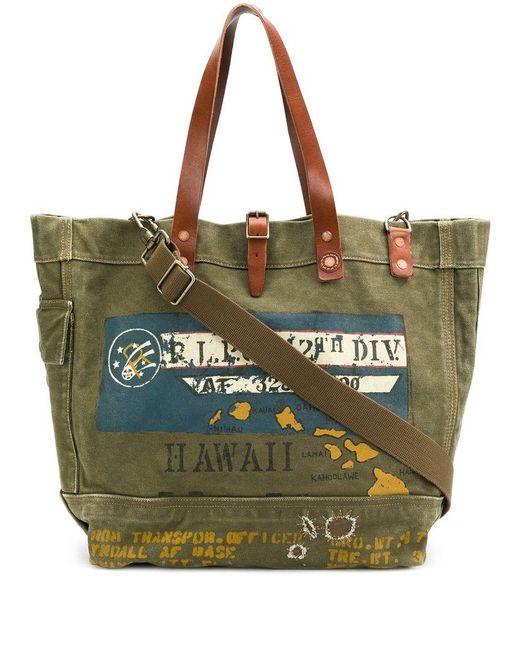 Polo Ralph Lauren - Green Printed Tote Bag for Men - Lyst ... 0c064b3dbd997