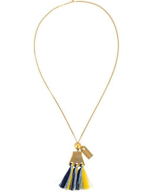 Chloé | Metallic Blue Multi Janis Pendant Necklace | Lyst