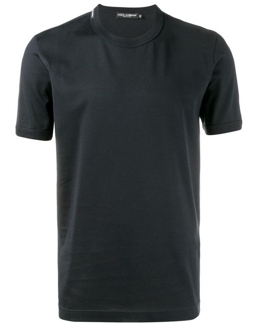Dolce & Gabbana | Blue Classic T-shirt With Round Neck for Men | Lyst