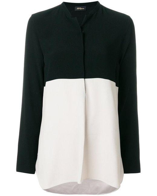 Les Copains | Black Camicia Con Colore A Blocchi | Lyst