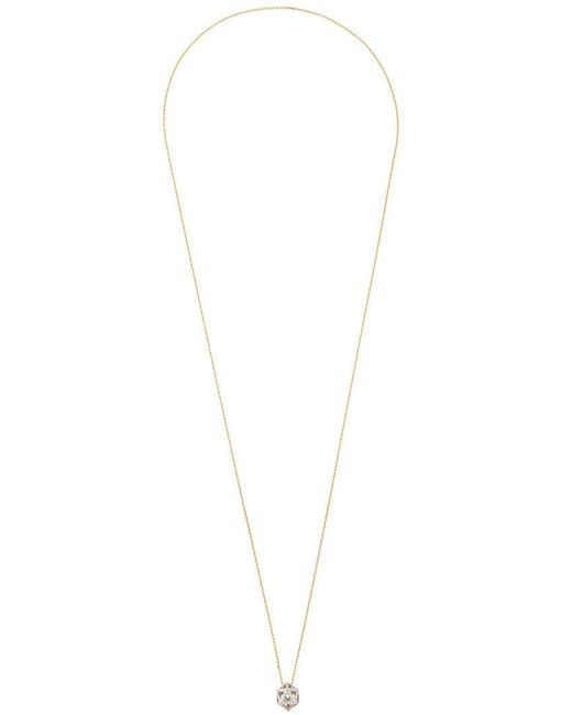 Noor Fares | Metallic Hollow Icosagon Pendant Necklace | Lyst