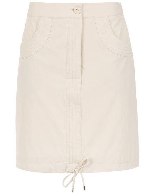 Egrey - Natural High Waisted Skirt - Lyst