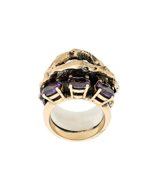 Voodoo Jewels - Metallic Stone Embellished Finger Ring - Lyst