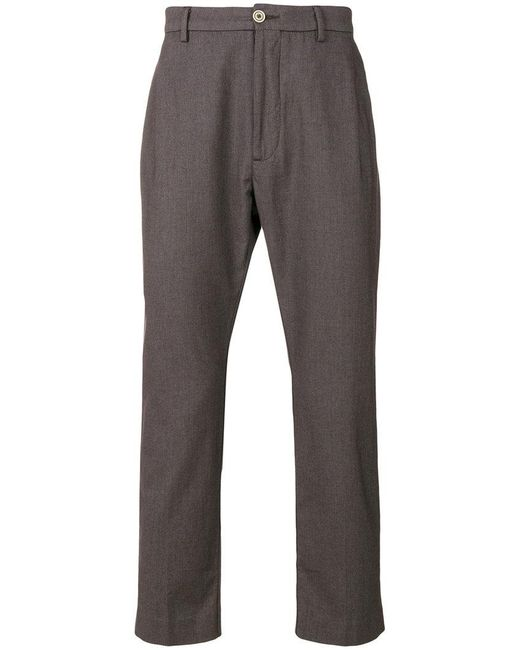 Pence - Gray Tailored Fitted Trousers for Men - Lyst