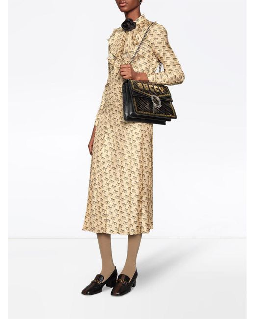 8ccb2676aa11 Gucci Borsa Dionysus Sega® Print Shoulder Bag in Black - Save 15% - Lyst
