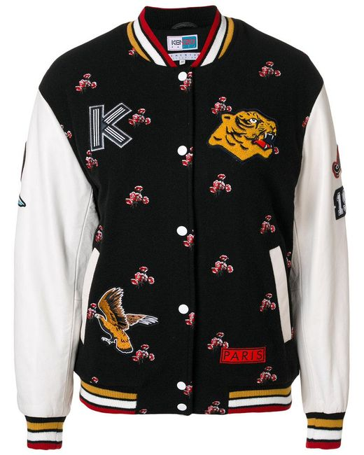 KENZO | Black Motif Sports Jacket | Lyst