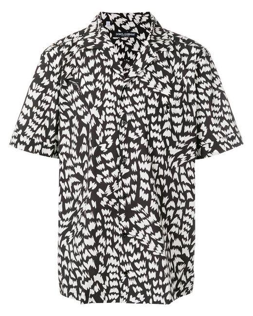Dolce & Gabbana - Black Memphis Print Bowling Shirt for Men - Lyst