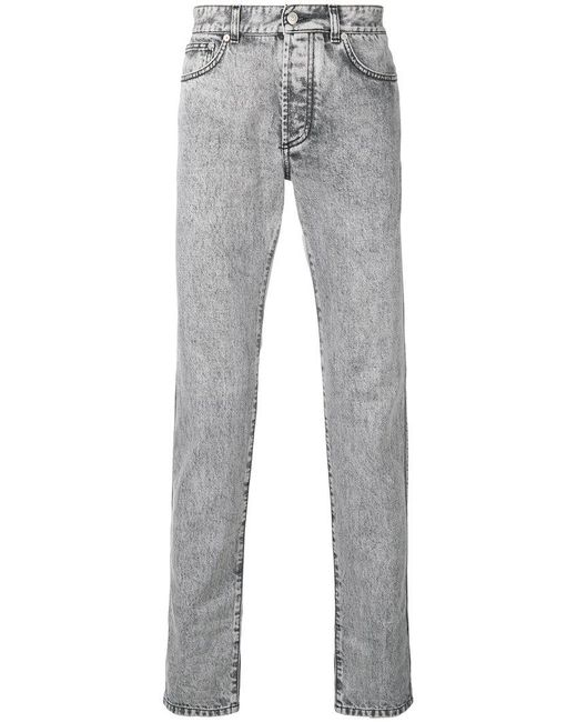 Givenchy - Gray Acid Wash Jeans for Men - Lyst