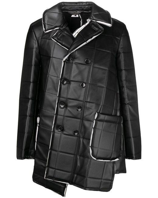 Comme des Garçons - Black Asymmetric Square-embossed Jacket for Men - Lyst