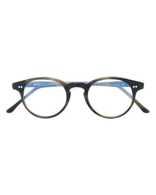 Cutler & Gross   Green Round Frame Glasses   Lyst