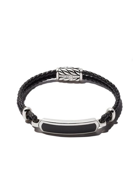 David Yurman - Black Exotic Stone Id Bracelet for Men - Lyst
