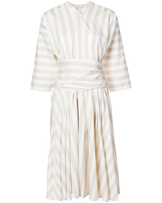 TOME | White Stripe Cinched Dress | Lyst