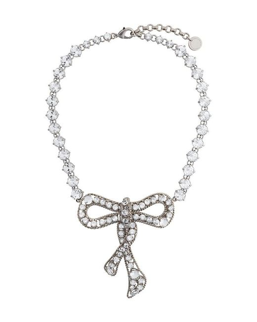 Ermanno Scervino | Metallic Bow Necklace | Lyst